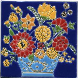 цветы на плитке