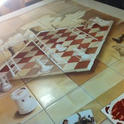 Роспись плитки в работе