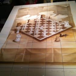 Керамическая картина шахматы