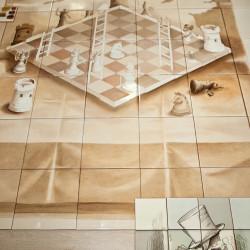 Роспись керамичекой плитки панно шахматы
