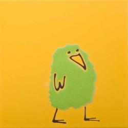 Птичка оранжевая