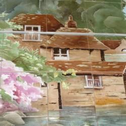 Художественная роспись плитки для фасада