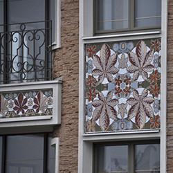 Панно керамическое для фасада - каштаны