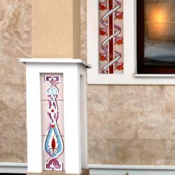 Панно из керамики для колонн