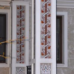 Декорирование колонн керамикой