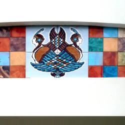 роспись плитки для фасада