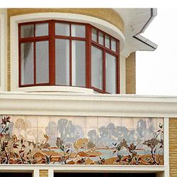 дом с пейзажем из керамики