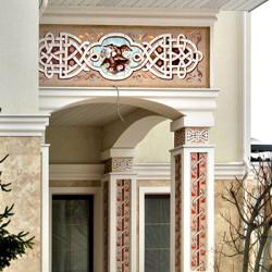 Фасадная керамика в русском стиле