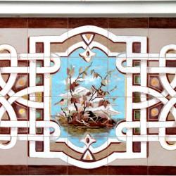 Керамическое панно на фасаде