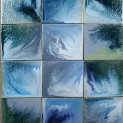 глазурованный керамогранит - синие тона